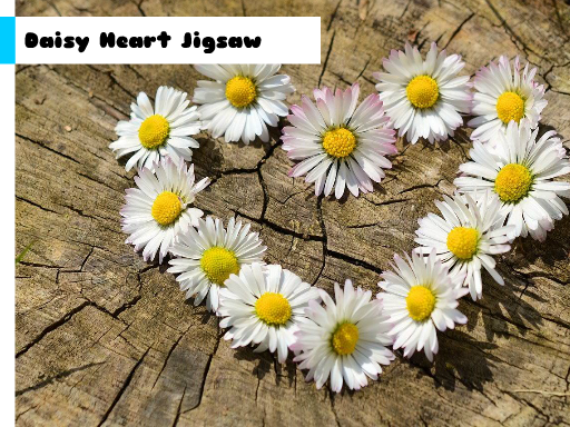 Daisy Heart Jigsaw