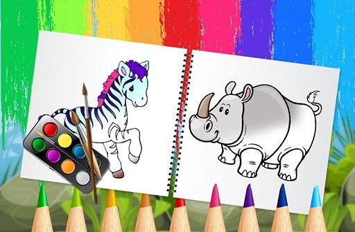funny animals coloring book