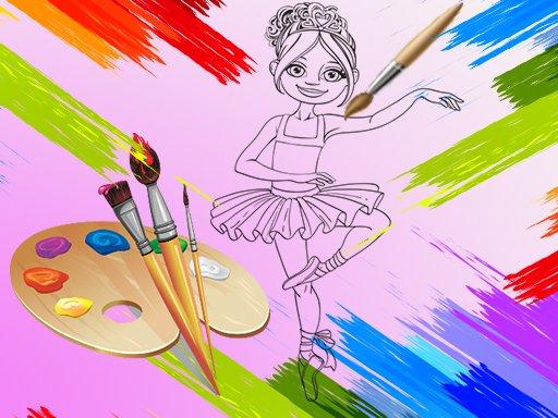 Little Ballerinas Coloring